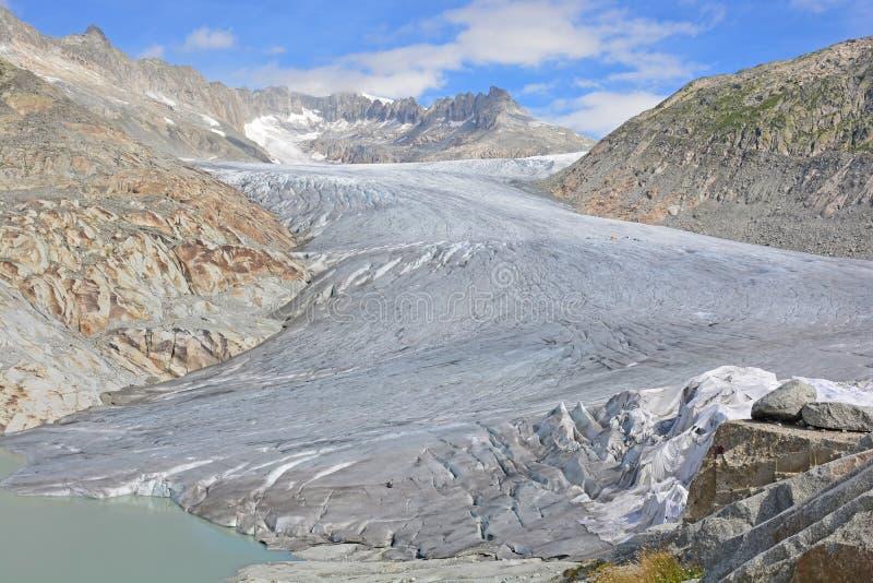 Glacier du Rhône photographie stock