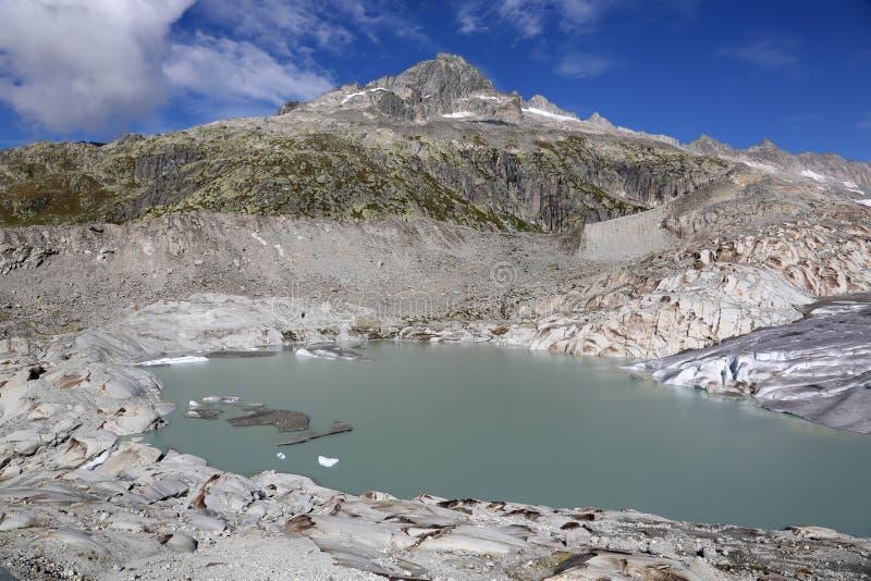 Glacier du Rhône en Suisse image libre de droits