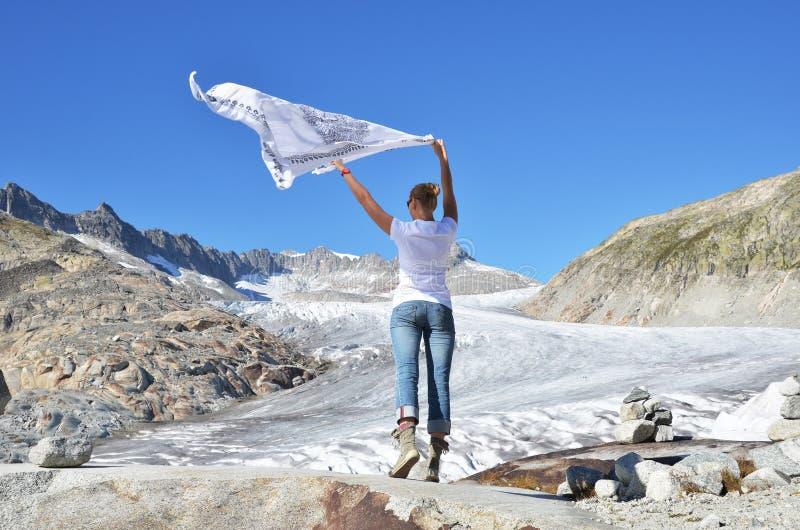 Glacier du Rhône. Suisse images libres de droits