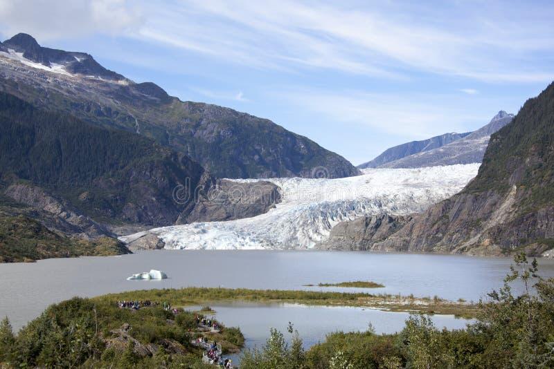 Glacier du ` s Mendenhall de l'Alaska photos libres de droits