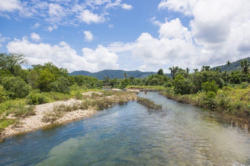 Glacier Emerald, Kuraburi district, Phang-nga, Thailand. Beautiful canal stock photos