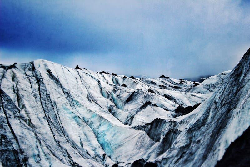 Glacier en Islande image libre de droits