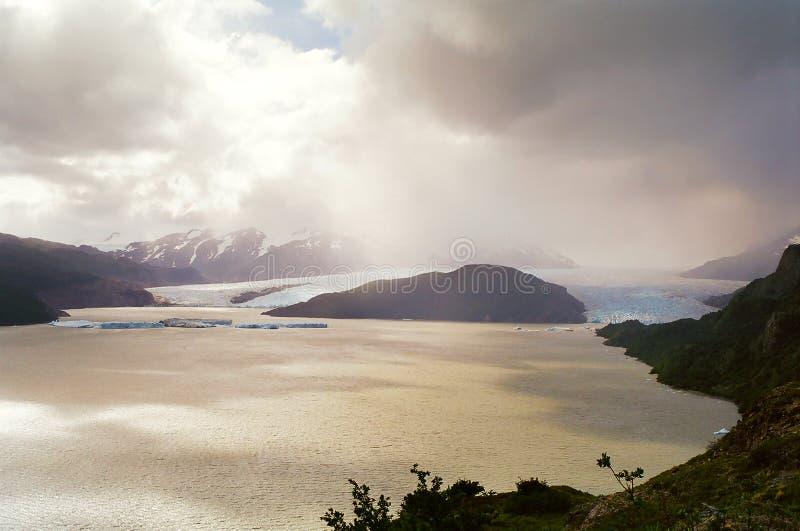 Glacier et lac, Chili photos libres de droits