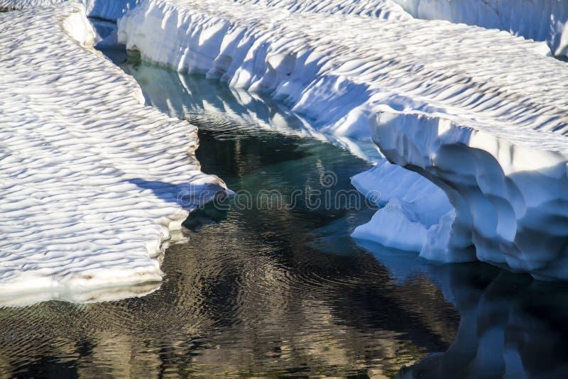 Glacier fondant en Norvège photo libre de droits
