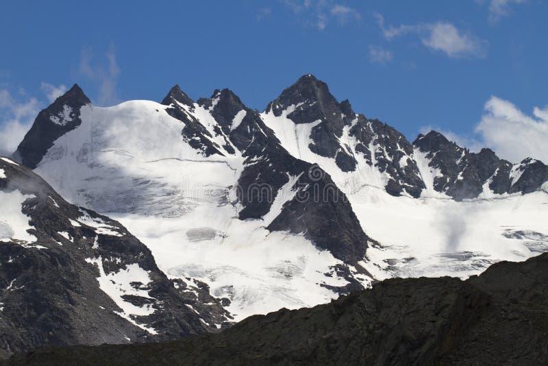 Glacier in the Gran Paradiso Park. Vallat of the Gran Paradiso Park stock photography