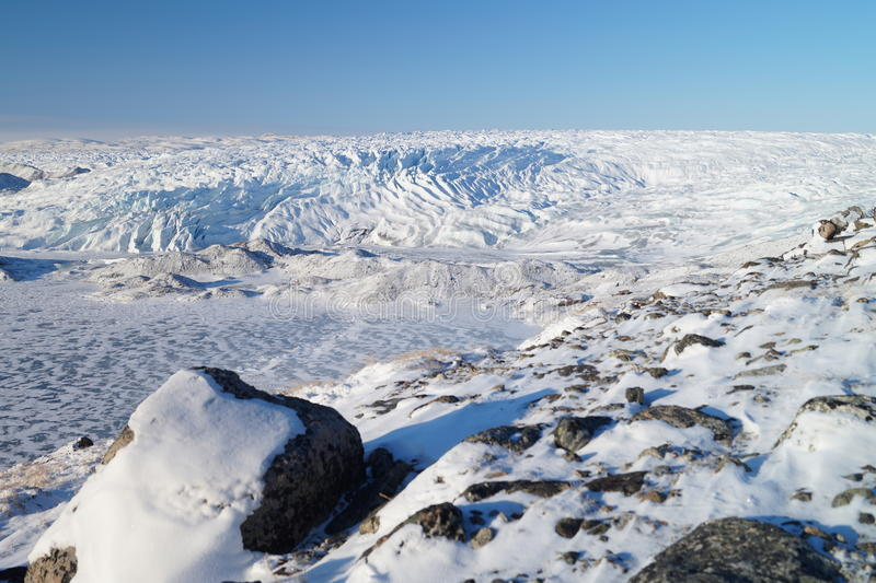 Glacier in Greenland stock photography