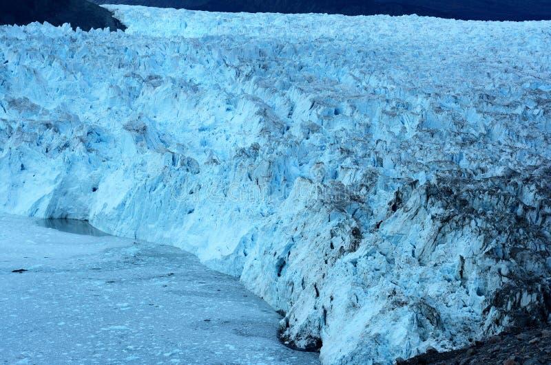 Glacier in Greenland 7. Eqi glacier 80 km from Ilulissat, West Greenland stock photo