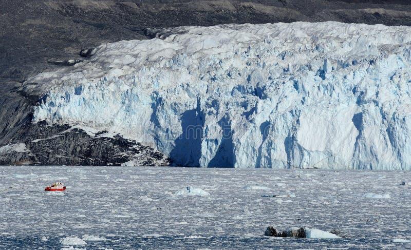 Glacier in Greenland 6. Eqi glacier 80 km from Ilulissat, West Greenland stock photo