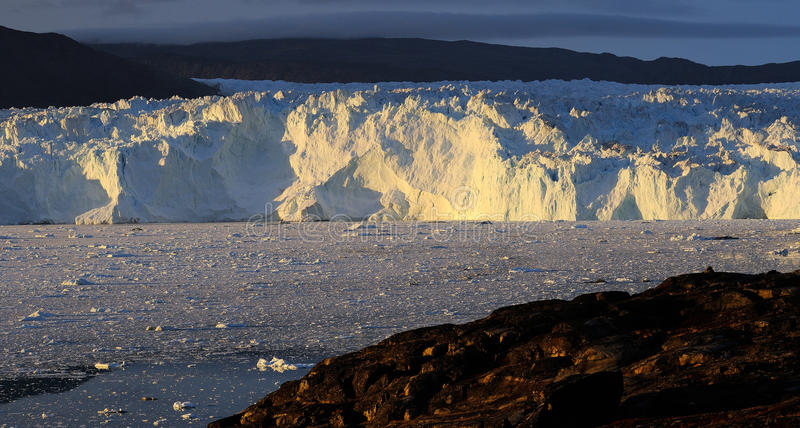 Glacier in Greenland 1. Eqi glacier 80 km from Ilulissat, West Greenland royalty free stock photography