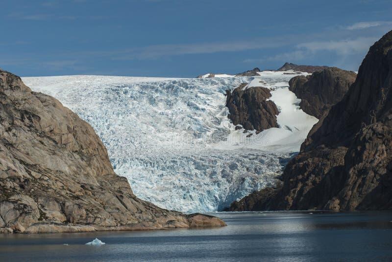 Glacier in Greenland. Glacier in Prins Christian Sund Greenland stock photos