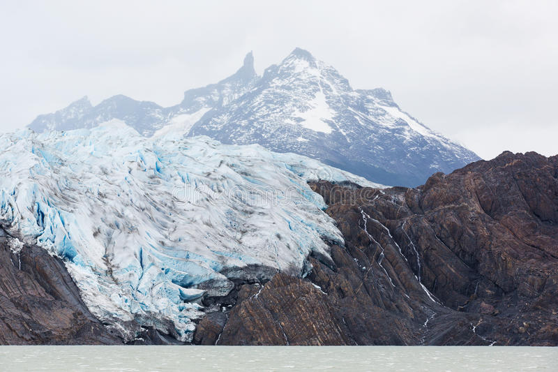 Glacier grey from boat. Beautiful glacier grey in torres del paine national park, patagonia, chile stock image