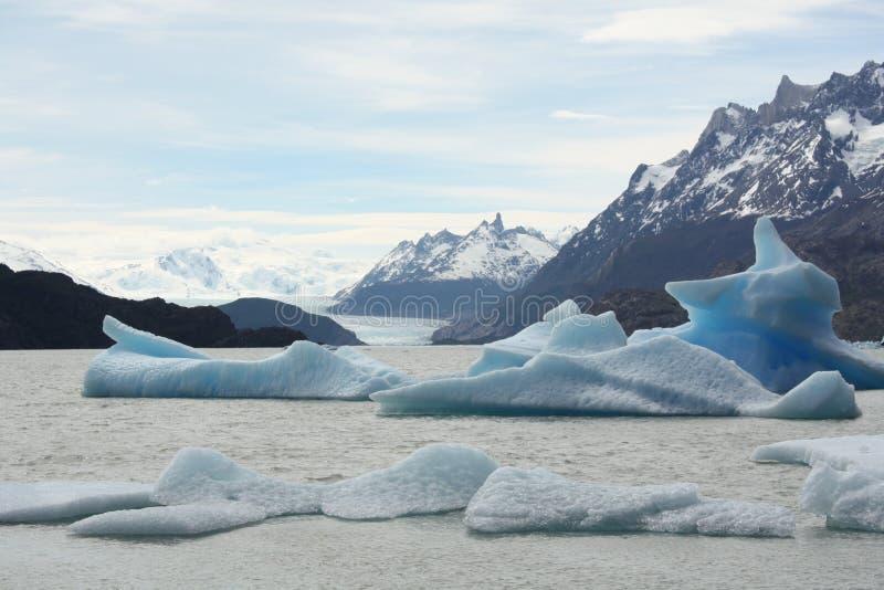Glacier Grey, Patagonia. Glacier Grey, Torres del Paine, Chile stock photography