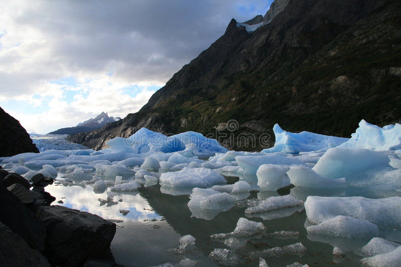 Glacier Grey in Torres del Paine. National park in Chilean Patagonia stock images