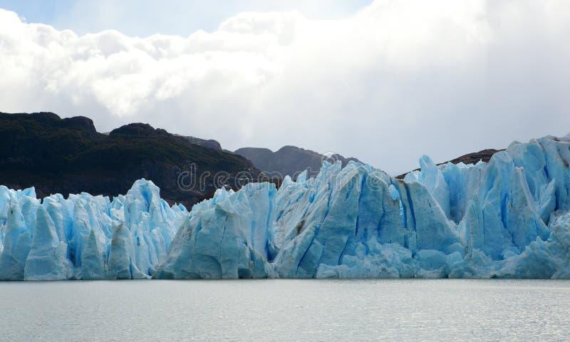 Glacier gris dans le Patagonia photos libres de droits