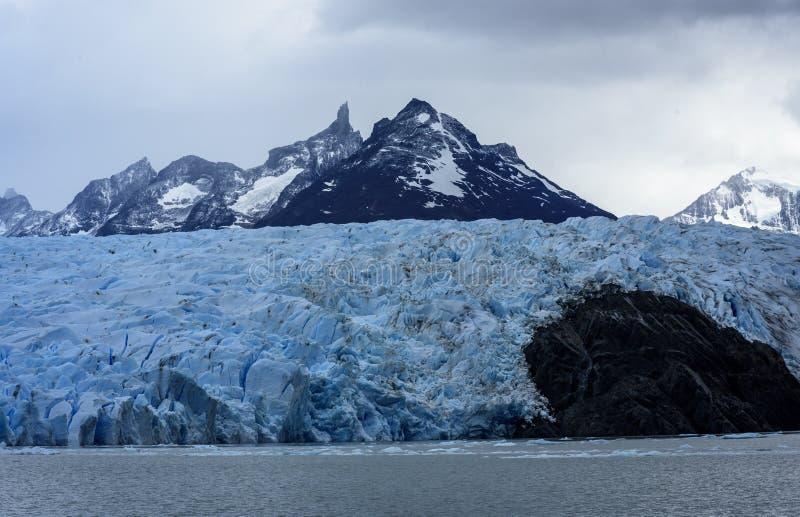 Glacier gris, Torres del Paine, Patagonia, Chili image stock