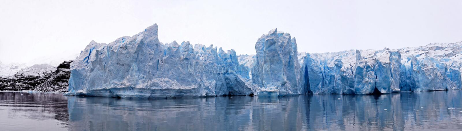 Glacier ice panorama stock images