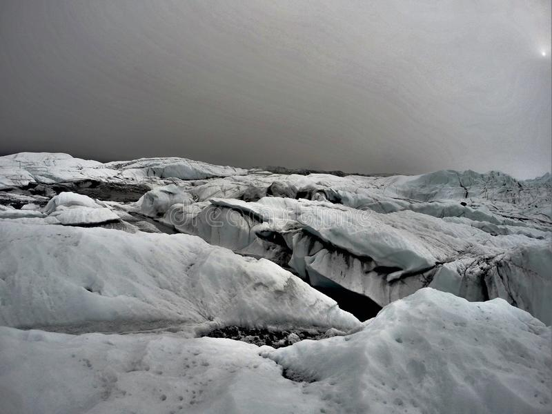 Glacier icefields stock photography