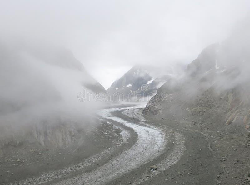 Glacier Mer de Glace, Frankreich stockfotografie