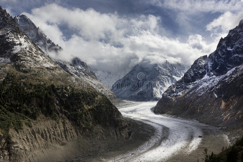 Glacier, Montenvers, Chamonix, France royalty free stock images