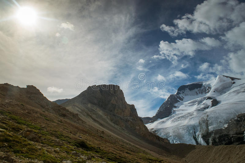 Glacier on mountain royalty free stock photography