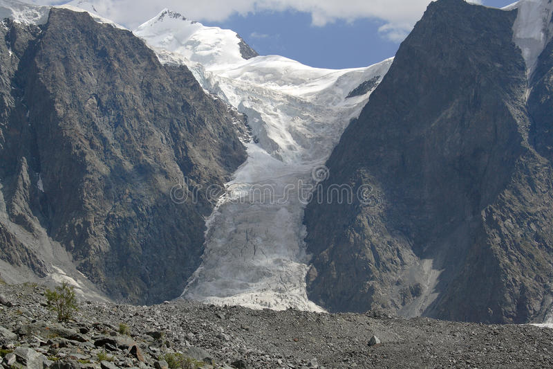 Download The Glacier Myushtu-Ayry stock image. Image of rocks, stone - 9603901
