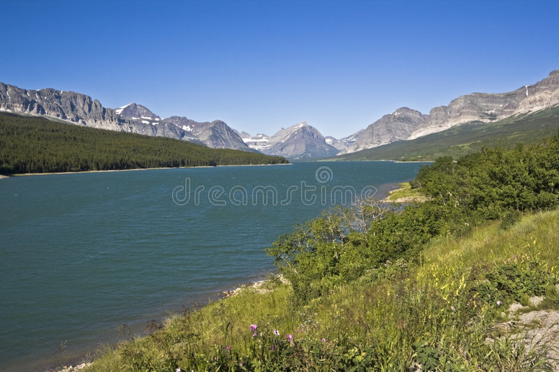 Download Glacier National Park In Montana. Stock Photo - Image of mountains, tree: 7361180