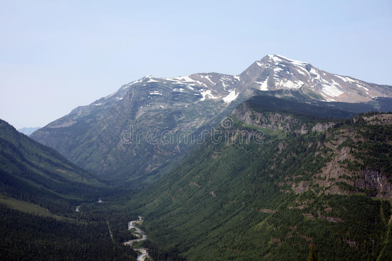 Glacier National Park in Montana, USA stock photography