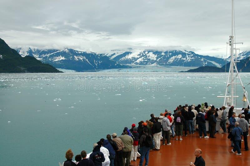 Glacier outre de bateau image stock