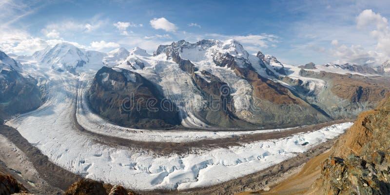 Glacier Panorama, Switzerland stock photos