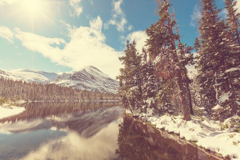 Glacier Park in winter royalty free stock photos