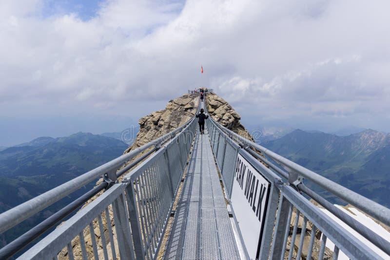 Glacier 3000. Peak walk at Glacier 3000 Diablerets, Switzerland royalty free stock photos