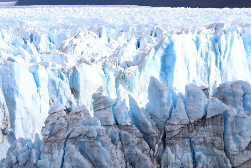 The glacier Perito Moreno. Imposing and beautiful the glacier Perito Moreno is a thick ice mass located in the department Lago Argentino of the province Santa royalty free stock photo