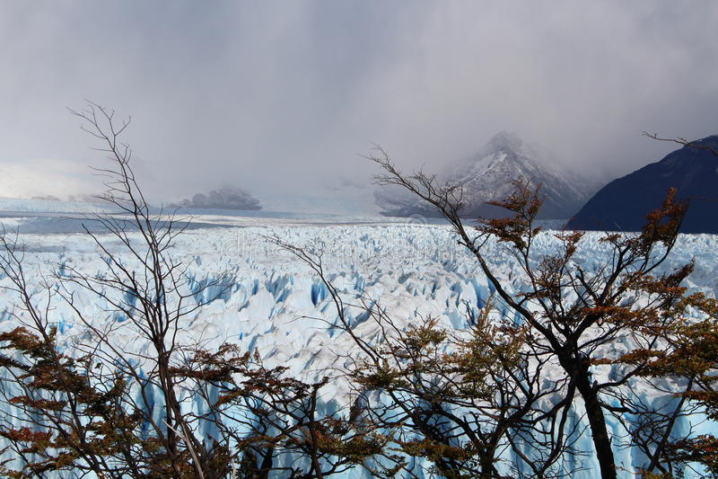 The glacier Perito Moreno. Imposing and beautiful the glacier Perito Moreno is a thick ice mass located in the department Lago Argentino of the province Santa stock photos