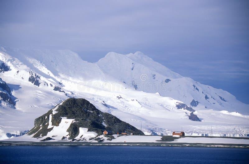 Glacier près d'île de demi-lune, détroit de Bransfield, Antarctique photo stock