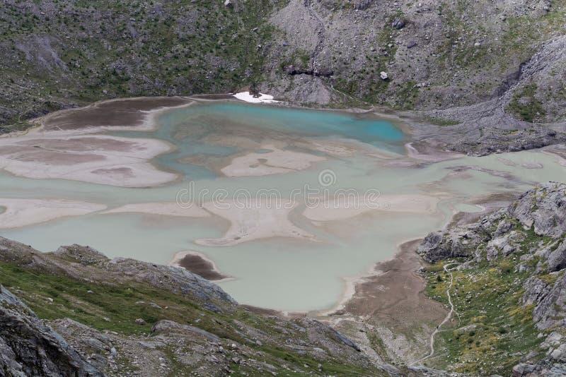 Glacier See am Pasterze-Gletscher in den österreichischen Alpen lizenzfreie stockfotos