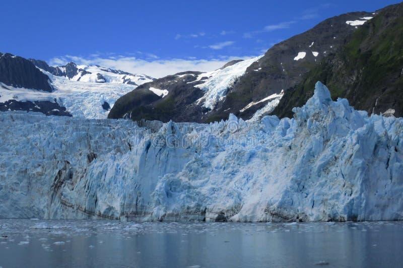 Glacier, Sky and ocean: Three Blues stock photo