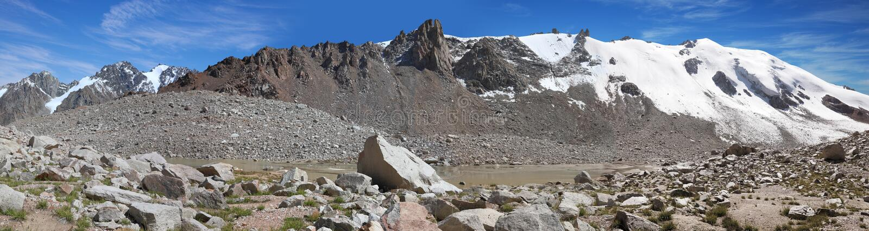 Glacier T 1, Tien Shan mountains, Kazakhstan royalty free stock image