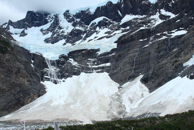 Glacier, Torres del Paine, Patagonia, Chili images libres de droits