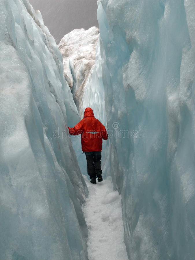 Glacier walk royalty free stock image