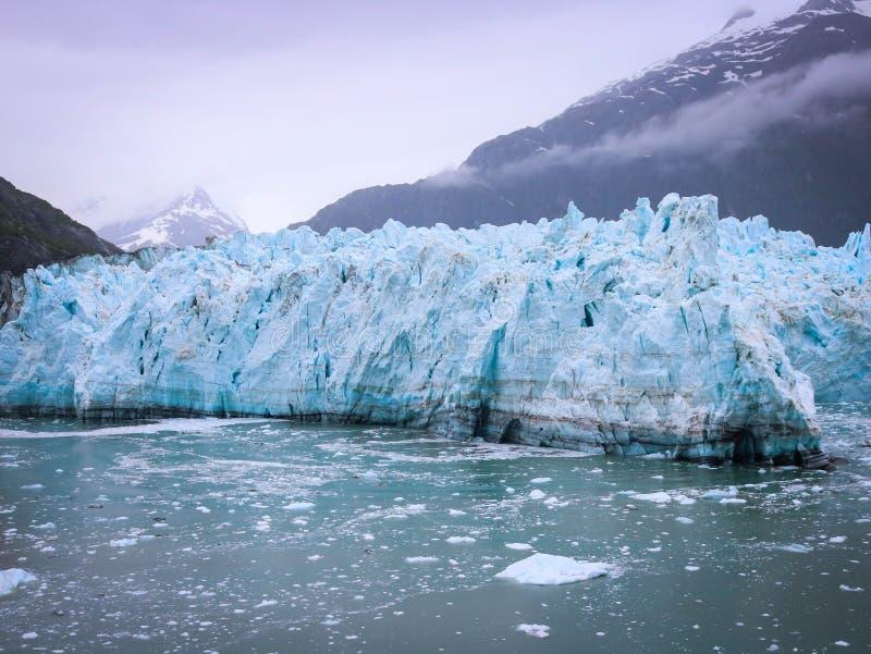 Glaciers in Alaska stock photography