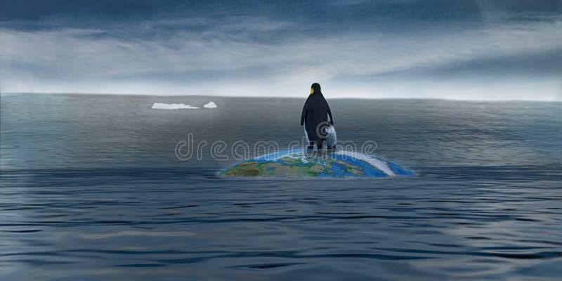 Glaciers disparaissant illustration libre de droits