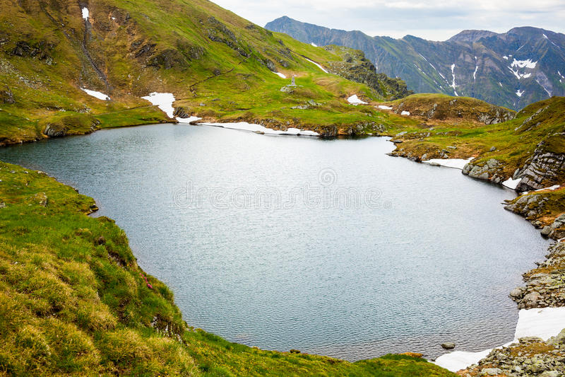 glacjalne jeziorne góry obraz stock