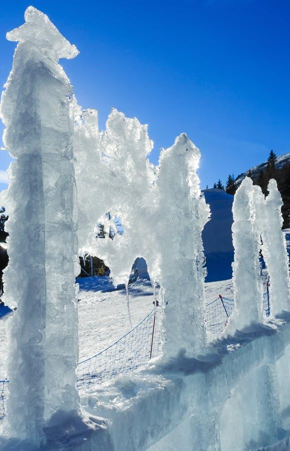 Glacjalny lodowy blok w świetle słonecznym fotografia stock