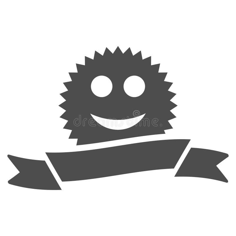Glad Award Ribbon Flat Icon. Glad award ribbon raster pictograph. Style is flat graphic gray symbol royalty free illustration