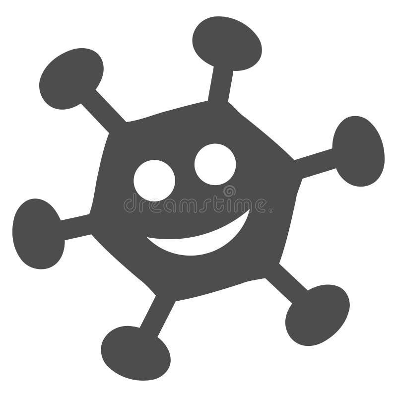 Glad Bacilla Flat Icon. Glad bacilla raster pictograph. Style is flat graphic grey symbol vector illustration