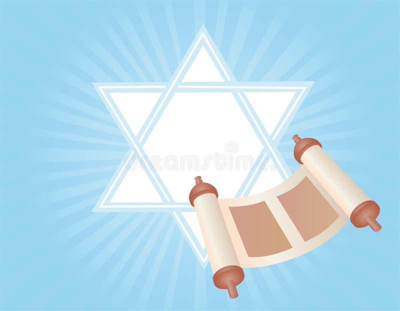 Glad background to the Jewish holiday stock illustration