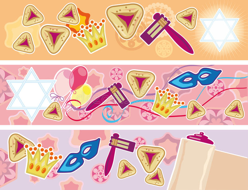 Glad background to the Purim vector illustration