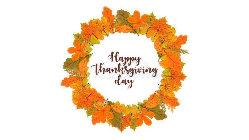 Glad bakgrund för Thanksgiving-dagens typografi royaltyfri illustrationer