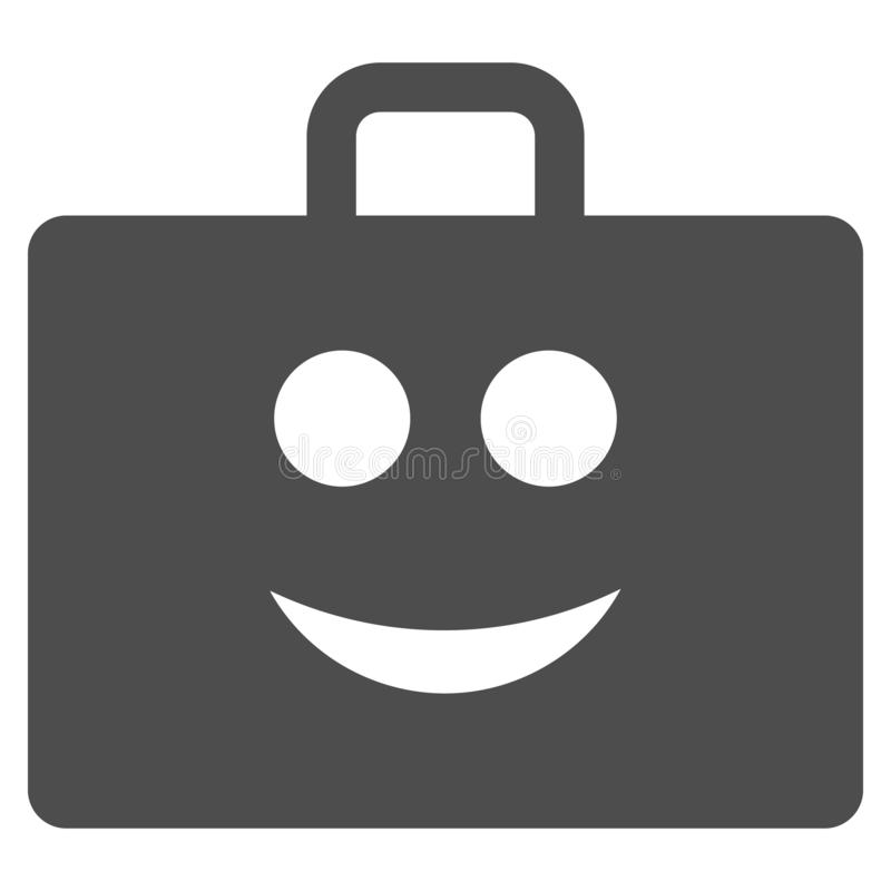 Glad Case Flat Icon. Glad case raster icon. Style is flat graphic gray symbol vector illustration