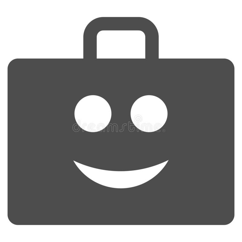 Glad Case Flat Icon. Glad case vector pictogram. Style is flat graphic grey symbol stock illustration